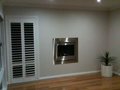 Built in gas fireplace full stainless steel, remote control.  Five Star Fireplaces installed this.