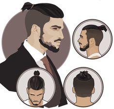man top knot hairstyle - meskie zwiazane wlosy kok kitka