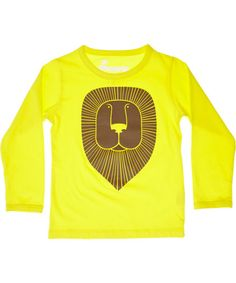 Danefæ super hippe felgele t-shirt met grote leeuw