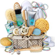 We've named it the Premium Spa Gift Basket, but it really should be called the Spoil A Woman Starter Kit. This gift basket includes not one, not two, but three luxurious spa products, a 4 Points Massager and one of the comfiest pairs of slippers that she'll ever slide her feet into.... more details available at https://perfect-gifts.bestselleroutlets.com/gifts-for-holidays/beauty-personal-care/product-review-for-premium-spa-gift-basket/