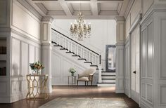 This gorgeous home looks so glamorous all because of moldings!   #metrie #glamdecorating
