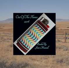Bead PATTERN Laramie Lighter Cover Peyote or by Outoftheflames