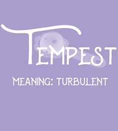 Tempest - Uncommon Girl Baby Names That Aren't Overused Yet - Photos