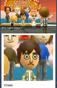 I have actually made (on the Wii thing) Levi, Erwin, Petra, (Kody made Levi and Petra's baby girl that's right), Marco, Jean, Armin, and now we gotta do Eren.
