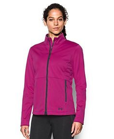 ad18a36520efc Under Armour Womens ColdGear Infrared Softershell Jacket Magenta  ShockStealth Gray Large     For more