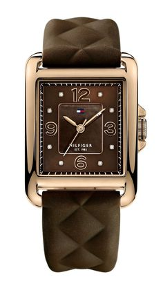 TOMMY HILFIGER FASHION WATCH now HK$ 800 (T1781245) Case Size: 35.0 mm  Gender: Ladies  Watch Materials: Stainless Steel  Movement: Quartz  Band Type: Brown Silicone Strap  Signatures:  Included Items: Manufacturer's Box and Papers
