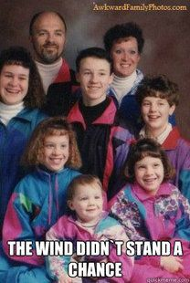 1990s Wind Breakers...omg...you know you have a family photo just like this too!