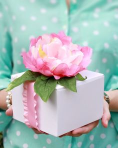 Easy DIY Sweet Gift Wrapping Box Idea Michaels Makers Springtime in Paris