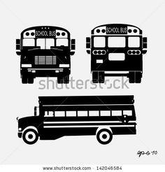 school bus vector - stock vector