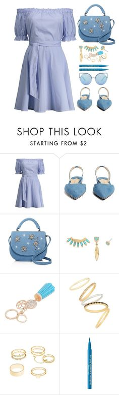 """Ootd"" by simona-altobelli ❤ liked on Polyvore featuring Paul Andrew, Studio 33, Madewell, Charlotte Russe, Too Faced Cosmetics and Matthew Williamson"