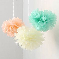 How To Make Tissue Paper Pom Poms - All Things Mamma