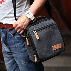 Amazon.com | OXA Canvas Messenger Bag  in Discount only $17.99