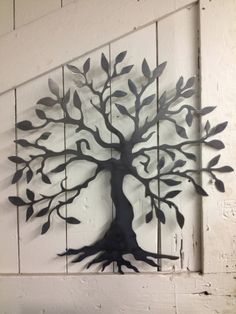 Tree of knowledge Wall Art by BuckandFawnMetal on Etsy