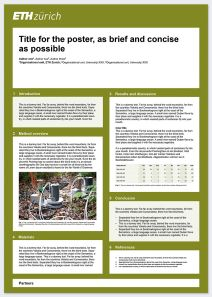 Scientific poster (example): Portrait format