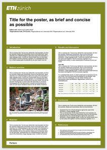 Scientific poster (example): Portrait format