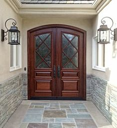 Beautiful French Style Double Front Doors for Homes : Enchanting Double Front Doors For Home With Great Design