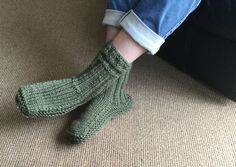 Khaki New Zealand Sheepskin and Wool Slipper Socks by SocksNZ on Etsy