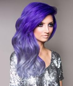 HOW-TO: Purple  Silver Urban Ombre #haircolor #formula #pravana #chromasilk #purplehair