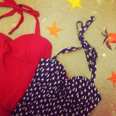 Super cute retro bathing suits by Emmy @ HIPPO! Royale https://www.facebook.com/HIPPOROYALE