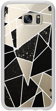 d87b0406c1b55 Casetify Galaxy S7 Edge Classic Snap Case - Black and White Rustic Painted  Abstract Linear Geometric