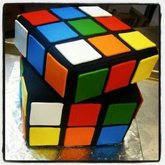 Rubik's Cube Cake! This is incredible!