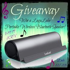 Low entry #giveaway! Enter to #win a beautifully designed LUGULAKE Bluetooth Speaker! $90 RV. Ends December 25 (11:59pm).