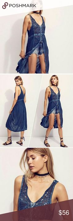 Free people riptide maxi top Free people button front tunic. Buttons half way down. Free people  Dresses