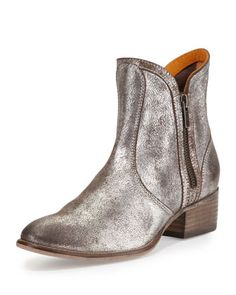 Lucky Penny Metallic Bootie, Pewter by Seychelles at Neiman Marcus.