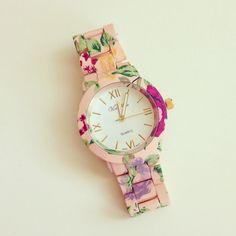Floral Metal Watch
