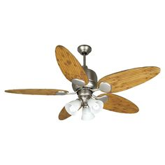 Hampton bay escape 68 in brushed nickel indooroutdoor ceiling fan craftmade k10707 3 light 54 in kona bay ceiling fan atg stores mozeypictures Image collections