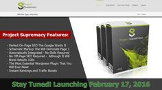 Overview of Project Supremacy V2 - Review Coming Soon. Project Supremacy will be the most essential Wordpress Plugin that you will ever need surpassing Yoast SEO and All in SEO Pack hands down! Learn more here http://realworkingprofits.com/reviews/project-supremacy-v2/