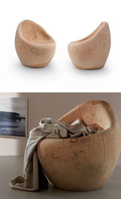 Wooden #armchair BORA BORA by Riva 1920 | #design Terry Dwan #wood