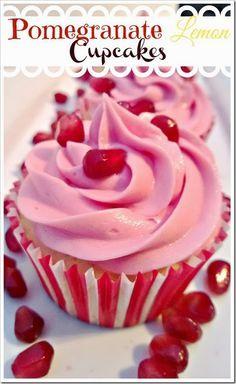 Lou  Lou  Girls : Pomegranate Lemon Cupcakes