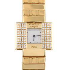 Van Cleef & Arpels Domino 39 18k Yg Diamond Watch