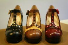 Check out the must-have footwear trends for autumn/winter 2014 with the launch of the new Orla Kiely range at Clarks. Orla Kiely Shoes, Cute Shoes, Me Too Shoes, Preppy Style, My Style, Walking In High Heels, Old Shoes, Kinds Of Shoes, Clarks