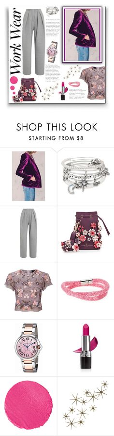 """Velvet office"" by belen-cool-look ❤ liked on Polyvore featuring Alex and Ani, Vika Gazinskaya, Marina Hoermanseder, Needle & Thread, Swarovski, Cartier, Avon, Le Métier de Beauté, Global Views and WorkWear"