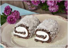 Çikolatalı Sultan Sarması veya Padişah Lokumu  Malzemeler      4 su bardağı süt     2 yemek kaşığı kakao     3 yemek kaşığı un (Kaşık ...