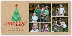 Merry Christmas Tree 4x8 Photo Card by Shutterfly