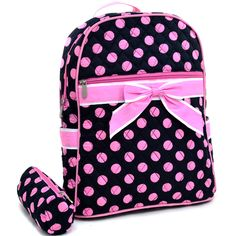 Black and Pink Back Pack, $20.00