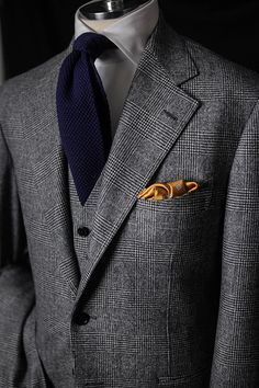"""bntailor: """" Glen Plaid 3P by B&TAILOR in Fox Brothers Lambswool """""""