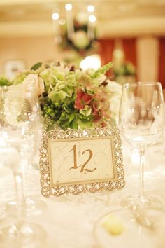 table numbers. #realweddings #SoCoEvents