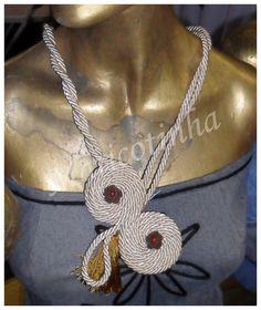 https://flic.kr/p/bgXEoi | colar cordão cetim | Colar chic  para  a mulher que faz o estilo clássico