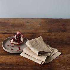 Image of Natural Dyed Linen Napkins - Pomegranate