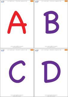 Uppercase alphabet flashcards from Super Simple Learning. #preK #Kindergarten #ESL