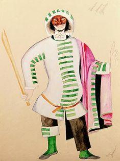 "И.И. Нивинский.  ""Принцесса Турандот"". сказка К. Гоцци. Эскиз костюма. 1922"