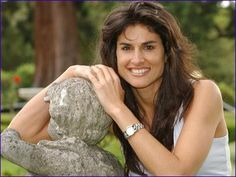 Gabriela Sabatini of Argentina after she retired from the pro Women's Tennis tour in 1996. Although Sabatini won just a single Grand Slam title, she was a leading lady on the WTA tour for over a decade, and is considered by many to be the original glamour girl of Women's Tennis. Sabatini launched her own perfume line in 1989, and she has transformed herself into a successful businesswoman with  numerous business holdings in her native Argentina.