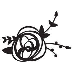 Rose Stamp | Engraved Art Mount | RubberStamps.com