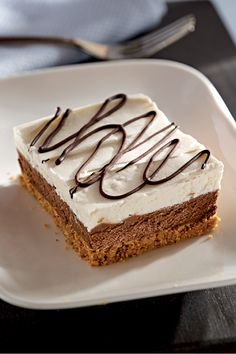 Chocolate-Layered No-Bake Cheesecake Bars – Maybe seeing the words chocolate-layered drew you in—or you were attracted by the no-bake dessert part. Either way, you'll be glad you tried these cheesecake bars!