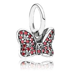 Minnie Mouse Sparkling Bow Charm by PANDORA | Disney Store