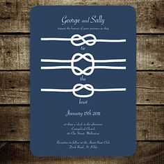 tying the knot wedding invatations